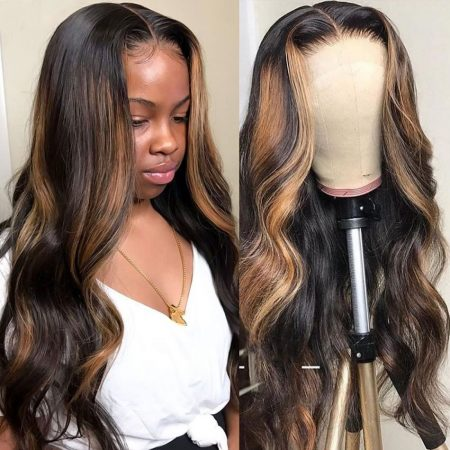 Highlight Wigs Ombre Wigs Body Wave Lace Front Wigs