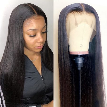 Straight Hair Human Lace Front Wigs With Baby Hair